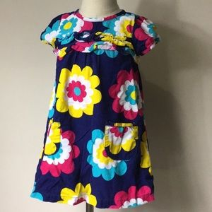 Kids Corduroy Ruffle Front Dress
